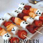 MOM Tip: Halloween Ghost Fruit Kabobs