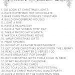 Free Winter/Christmas Bucket List Printable