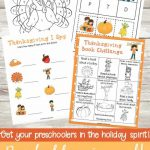 Free Preschool Printable Thanksgiving Learning Activities