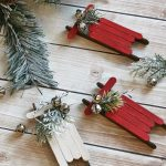 MOM Tip: DIY Popsicle Stick Sled Ornaments