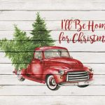 Free Farmhouse Christmas Truck Wall Art Printable