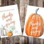 Free Thanksgiving Art Printables