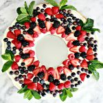 MOM Tip: Fruit Pizza Christmas Wreath