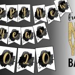 Free Happy New Year Banner Printable