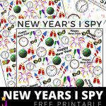 Free New Years Counting & I Spy Printable Activity