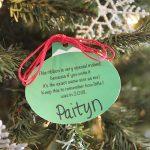 Free Sweet Memory Christmas Ornament Printable