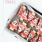 MOM Tip: Watermelon Christmas Trees