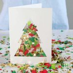 MOM Tip: DIY Confetti Christmas Card