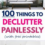 Free Printable List of 100 Things You Can Declutter Painlessly