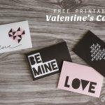 Free Valentine's Day Card Printables