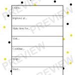 Free New Year's Resolution Worksheet Printable