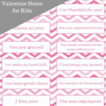 Free Printable: 14 Days of Valentine Notes for Kids
