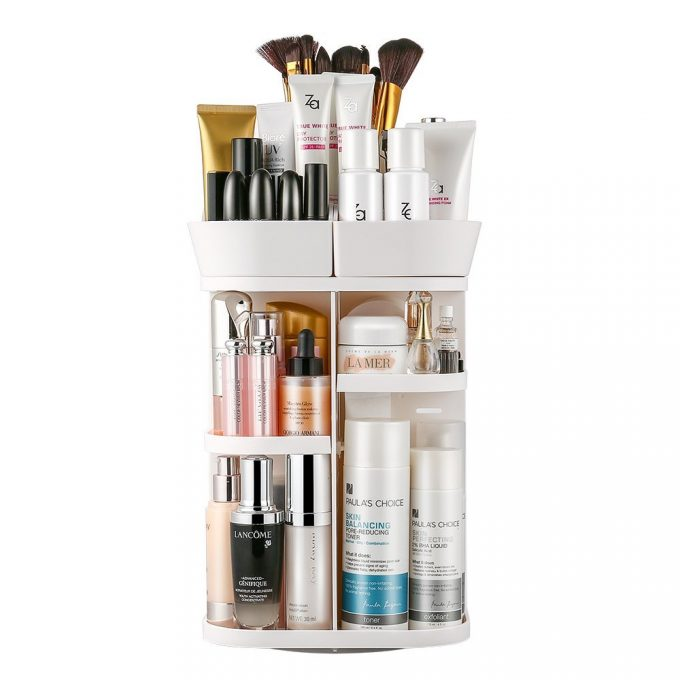 One Area That I Can Never Quite Figure Out Is My Bathroom Cosmeticsu2026 This  Jerrybox 360 Degree Rotating Makeup Organizer Could Actually Hold ...