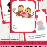 Free Animal-Themed Printable Valentines Day Cards for Kids