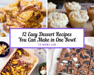 one bowl dessert recipes