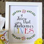 Free My Redeemer Lives Easter Printable
