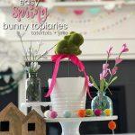 Easy Spring Bunny Topiaries