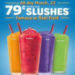 79 Cent Slushes at Sonic ~ All day Tomorrow, 3/22/18
