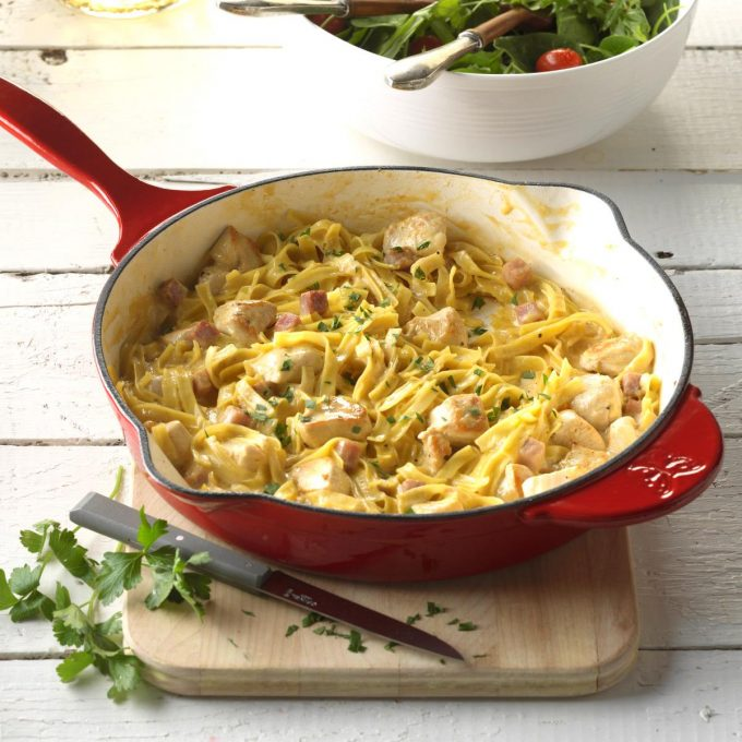 11 delicious leftover ham recipes for families 247 moms chicken cordon bleu skillet recipe from taste of home forumfinder Gallery