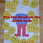 Free Pin the Head on the LEGO Man Printable