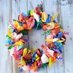 DIY Wreath: How to make a Birthday Balloon Wreath