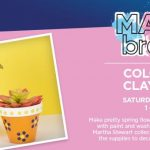 FREE Michael's Colorful Clay Pots Event April 14th, 1-3pm