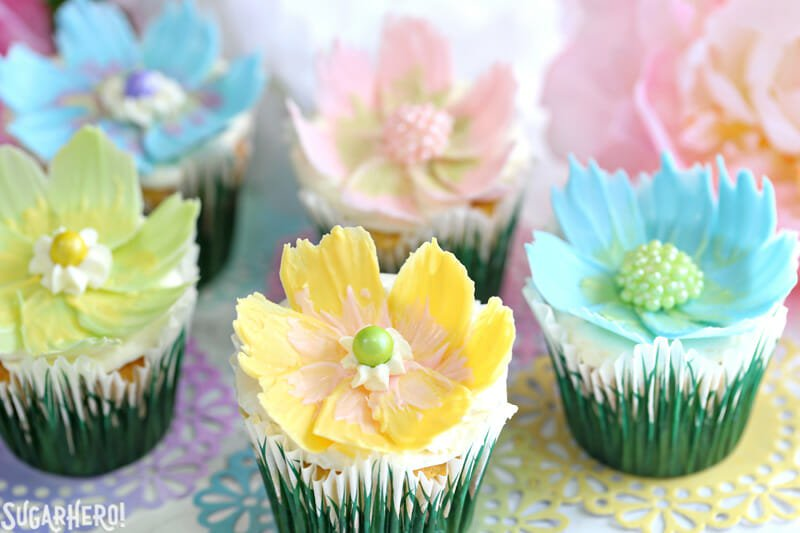 Easy Chocolate Flower Cupcakes Recipe 24 7 Moms