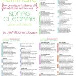 FREE Spring Cleaning Checklist Printable