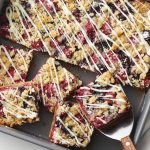Double-Berry White Chocolate Crumble Bars Recipe