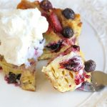 Berries and Cream Croissant Breakfast Casserole Recipe
