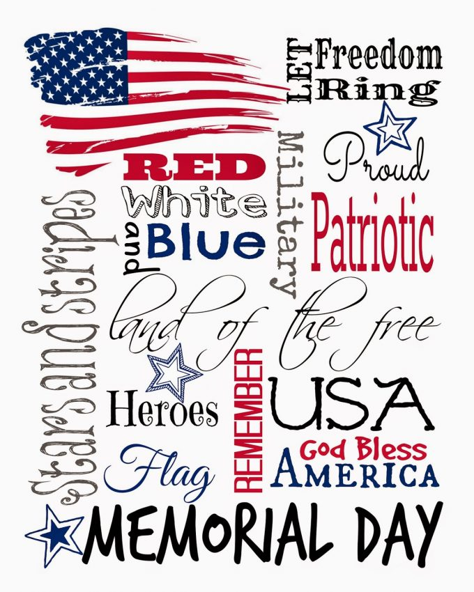 image about Memorial Day Printable known as Cost-free Memorial Working day Printable - 24/7 Mothers