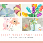 Pretty DIY Paper Flower Craft Ideas