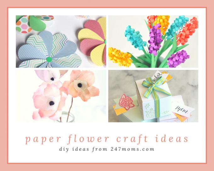 Pretty Diy Paper Flower Craft Ideas 24 7 Moms