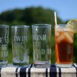 DIY Etched Summer Glassware Set