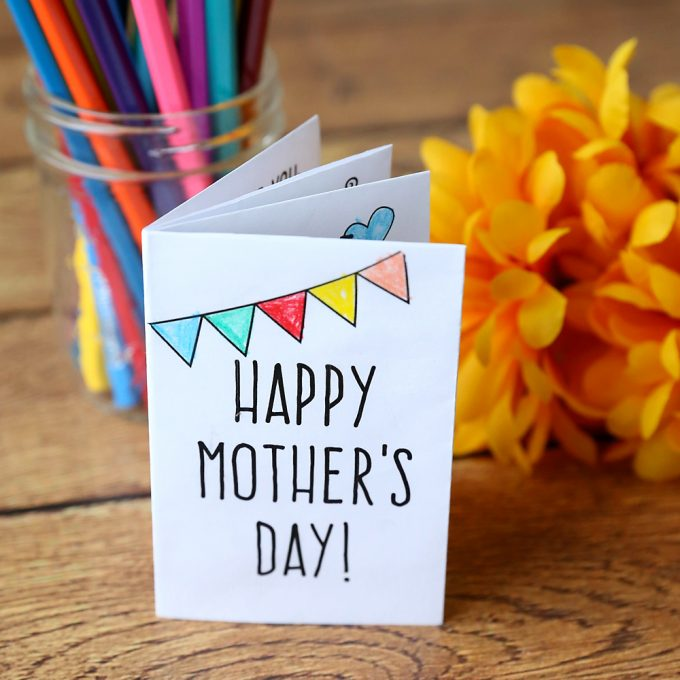 Free Adorable Printable Mother's Day Card For Kids