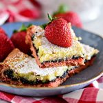 Strawberry Gooey Butter Cake with an Oreo Cookie Layer Recipe