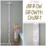 Build an Aged DIY Arrow Growth Chart