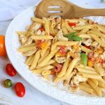Chicken and Pasta with Fresh Tomato Cream Sauce
