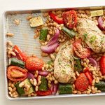 Tuscan Chicken Breasts and Vegetables Sheet-Pan Dinner