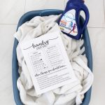Free Printable Laundry Cheat Sheet