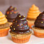 Pumpkin Spice Hi-Hat Cupcakes