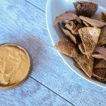 Cinnamon Pita Chips with Pumpkin Cream Cheese Dip