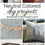 Neutral Colored DIY Projects