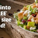 FREE Half Size Salad with any Purchase from Wendy's
