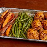 BBQ Chicken and Sweet Potato Sheet-Pan Dish