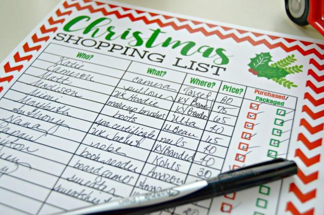 Free Christmas Shopping List Printable 247 Moms