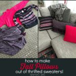How to Make Fall Pillows out of Thrifted Sweaters