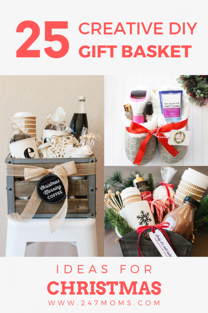 25 Creative Diy Gift Basket Ideas For Christmas 24 7 Moms