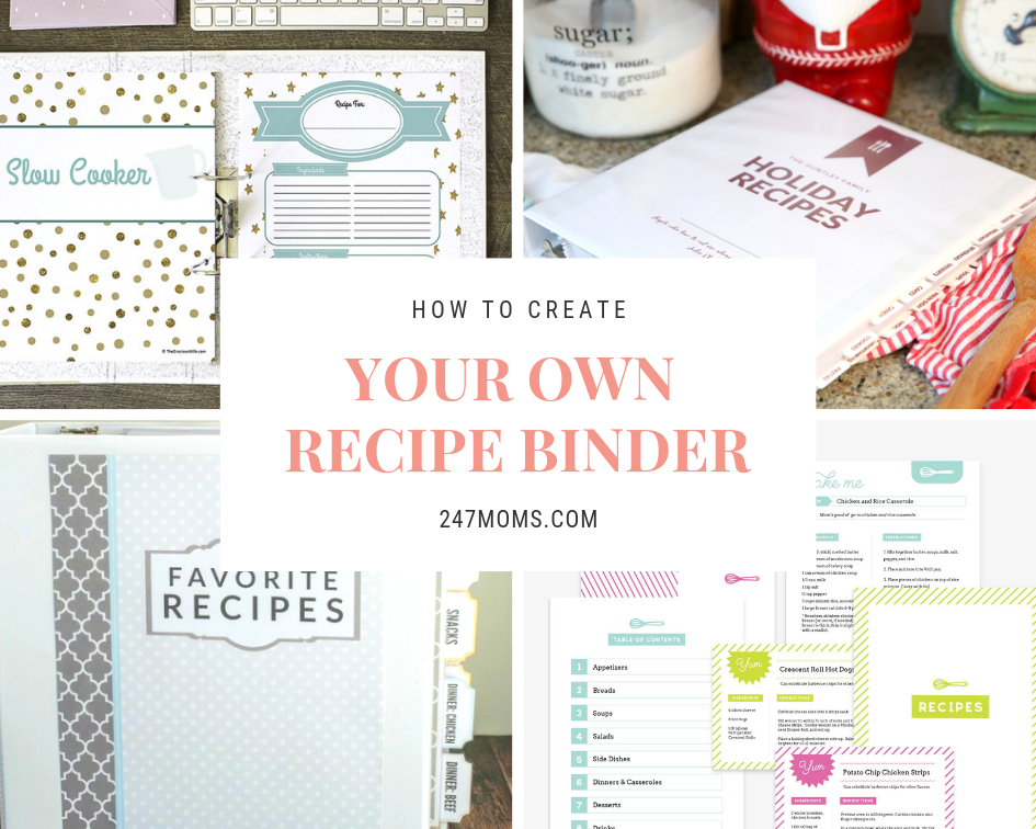 how to create your own recipe binder 24 7 moms