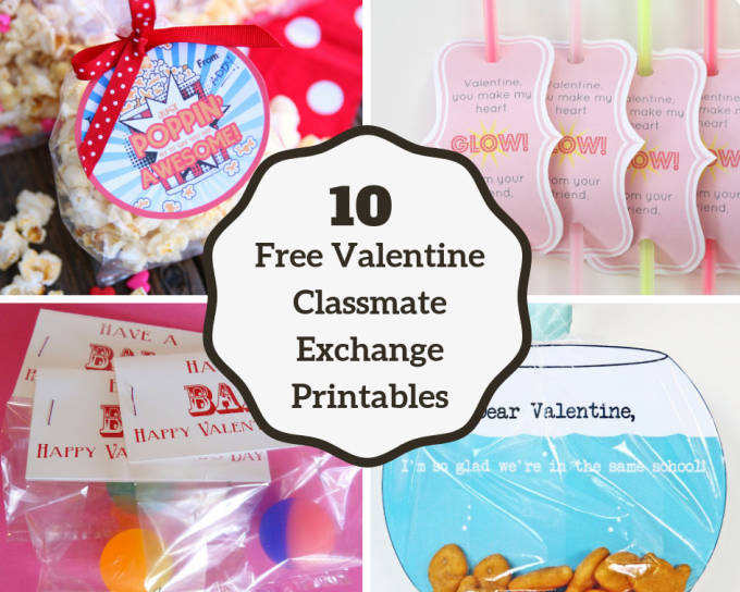 image regarding Printable Valentine Cards for Classmates identify 10 Absolutely free Valentine Clmate Swap Printables - 24/7 Mothers